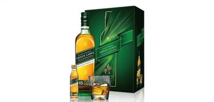 Johnnie Walker 綠牌 15 年蘇格蘭威士忌禮盒