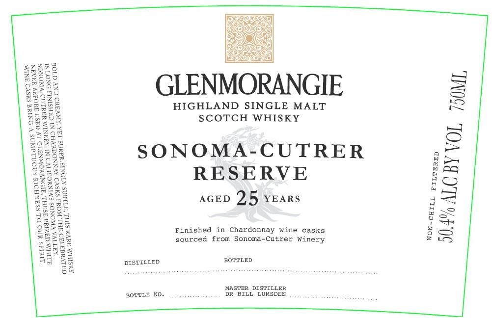Glenmorangie Sonoma- Cutrer Reserve 酒標